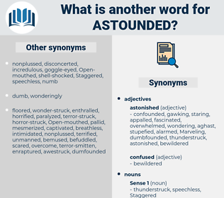 astounded, synonym astounded, another word for astounded, words like astounded, thesaurus astounded