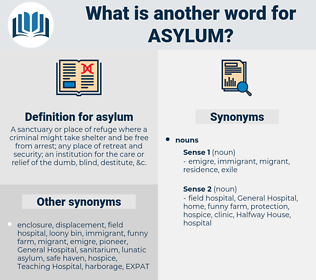 asylum, synonym asylum, another word for asylum, words like asylum, thesaurus asylum