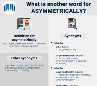 asymmetrically, synonym asymmetrically, another word for asymmetrically, words like asymmetrically, thesaurus asymmetrically