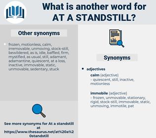 at a standstill, synonym at a standstill, another word for at a standstill, words like at a standstill, thesaurus at a standstill