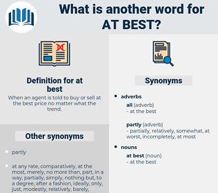 at best, synonym at best, another word for at best, words like at best, thesaurus at best