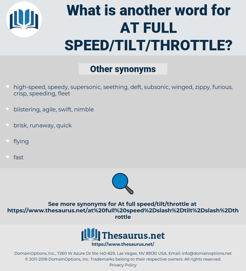 at full speed/tilt/throttle, synonym at full speed/tilt/throttle, another word for at full speed/tilt/throttle, words like at full speed/tilt/throttle, thesaurus at full speed/tilt/throttle