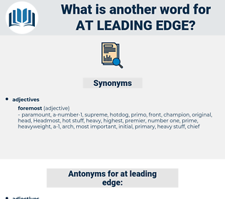 at leading edge, synonym at leading edge, another word for at leading edge, words like at leading edge, thesaurus at leading edge