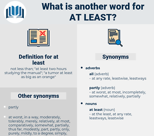at least, synonym at least, another word for at least, words like at least, thesaurus at least