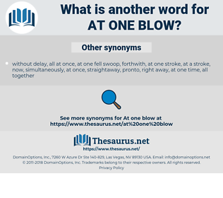 at one blow, synonym at one blow, another word for at one blow, words like at one blow, thesaurus at one blow