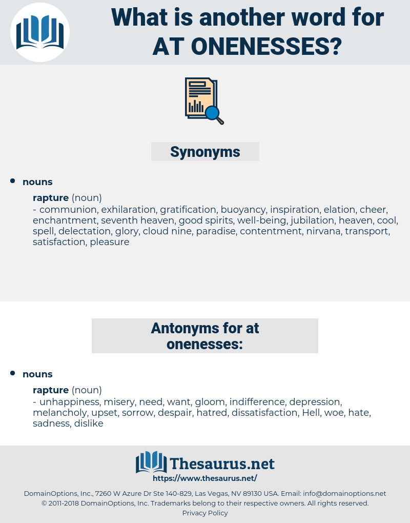 at-onenesses, synonym at-onenesses, another word for at-onenesses, words like at-onenesses, thesaurus at-onenesses