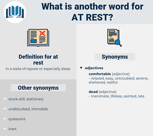 at rest, synonym at rest, another word for at rest, words like at rest, thesaurus at rest