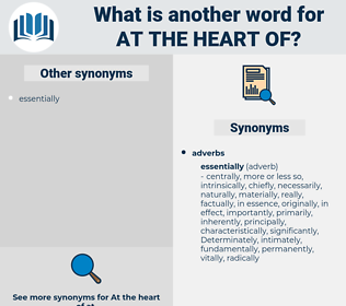 at the heart of, synonym at the heart of, another word for at the heart of, words like at the heart of, thesaurus at the heart of