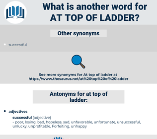 at top of ladder, synonym at top of ladder, another word for at top of ladder, words like at top of ladder, thesaurus at top of ladder