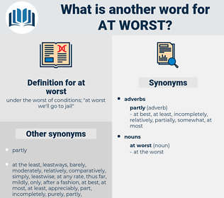 at worst, synonym at worst, another word for at worst, words like at worst, thesaurus at worst
