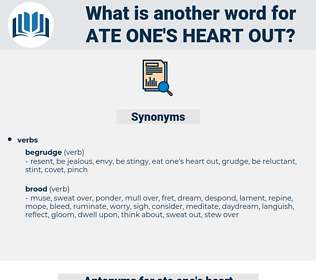 ate one's heart out, synonym ate one's heart out, another word for ate one's heart out, words like ate one's heart out, thesaurus ate one's heart out