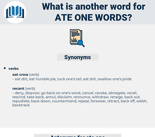 ate one words, synonym ate one words, another word for ate one words, words like ate one words, thesaurus ate one words
