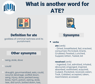 ate, synonym ate, another word for ate, words like ate, thesaurus ate