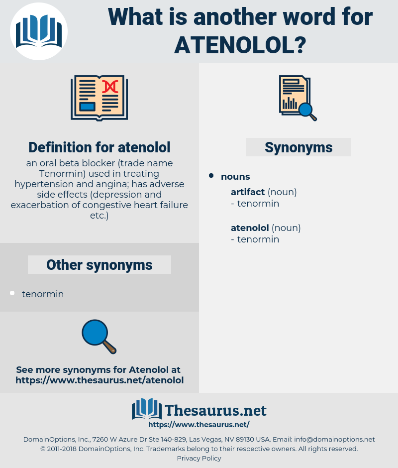 atenolol, synonym atenolol, another word for atenolol, words like atenolol, thesaurus atenolol