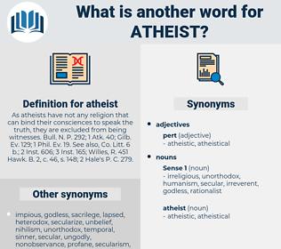 atheist, synonym atheist, another word for atheist, words like atheist, thesaurus atheist
