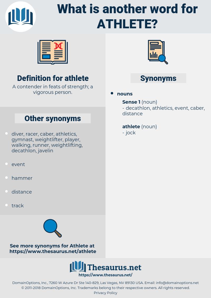 athlete, synonym athlete, another word for athlete, words like athlete, thesaurus athlete