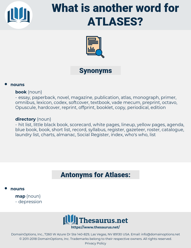 Atlases, synonym Atlases, another word for Atlases, words like Atlases, thesaurus Atlases