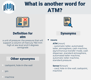 atm, synonym atm, another word for atm, words like atm, thesaurus atm