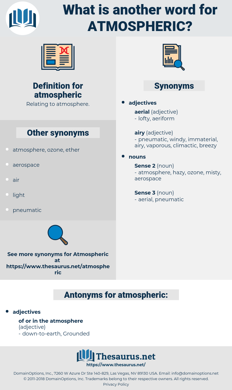 atmospheric, synonym atmospheric, another word for atmospheric, words like atmospheric, thesaurus atmospheric