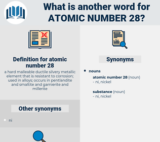atomic number 28, synonym atomic number 28, another word for atomic number 28, words like atomic number 28, thesaurus atomic number 28