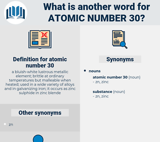 atomic number 30, synonym atomic number 30, another word for atomic number 30, words like atomic number 30, thesaurus atomic number 30