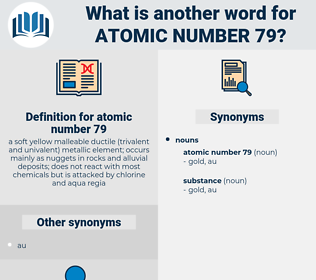 atomic number 79, synonym atomic number 79, another word for atomic number 79, words like atomic number 79, thesaurus atomic number 79