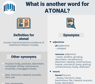 atonal, synonym atonal, another word for atonal, words like atonal, thesaurus atonal