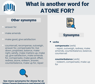 atone for, synonym atone for, another word for atone for, words like atone for, thesaurus atone for