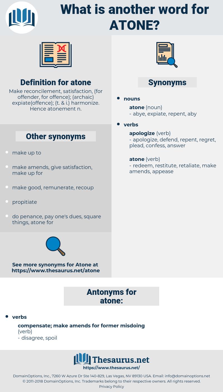 atone, synonym atone, another word for atone, words like atone, thesaurus atone