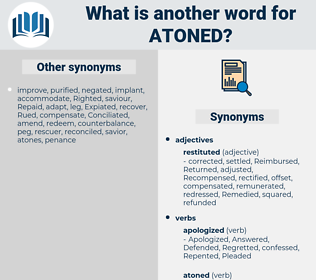 Atoned, synonym Atoned, another word for Atoned, words like Atoned, thesaurus Atoned