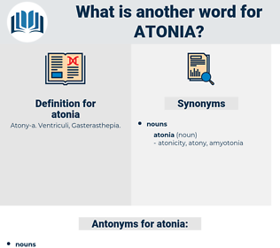 atonia, synonym atonia, another word for atonia, words like atonia, thesaurus atonia