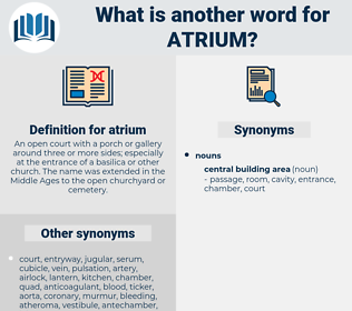 atrium, synonym atrium, another word for atrium, words like atrium, thesaurus atrium