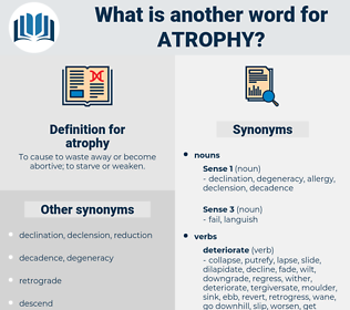 atrophy, synonym atrophy, another word for atrophy, words like atrophy, thesaurus atrophy