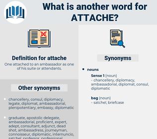 attache, synonym attache, another word for attache, words like attache, thesaurus attache
