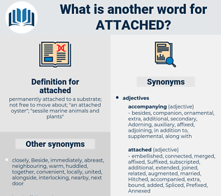 attached, synonym attached, another word for attached, words like attached, thesaurus attached
