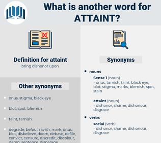 attaint, synonym attaint, another word for attaint, words like attaint, thesaurus attaint