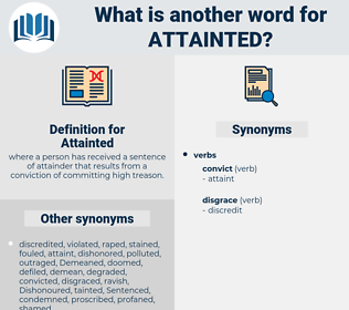Attainted, synonym Attainted, another word for Attainted, words like Attainted, thesaurus Attainted