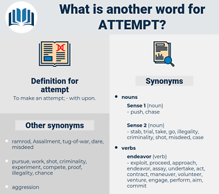 attempt, synonym attempt, another word for attempt, words like attempt, thesaurus attempt