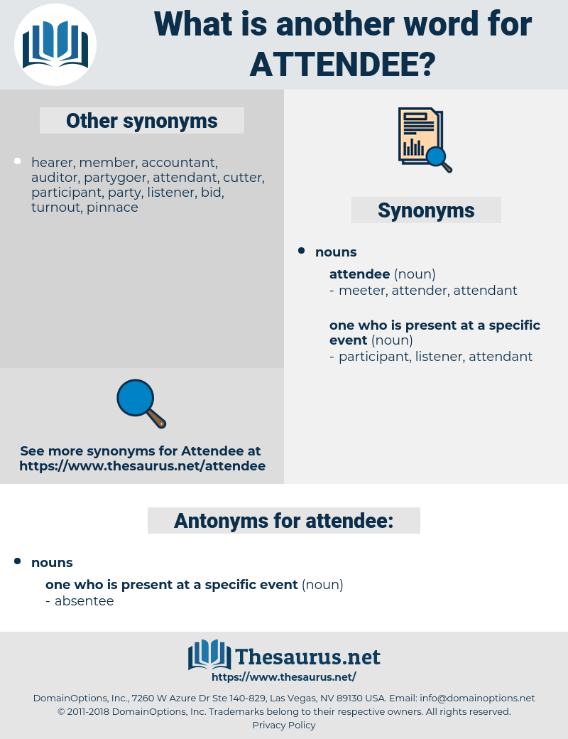 attendee, synonym attendee, another word for attendee, words like attendee, thesaurus attendee