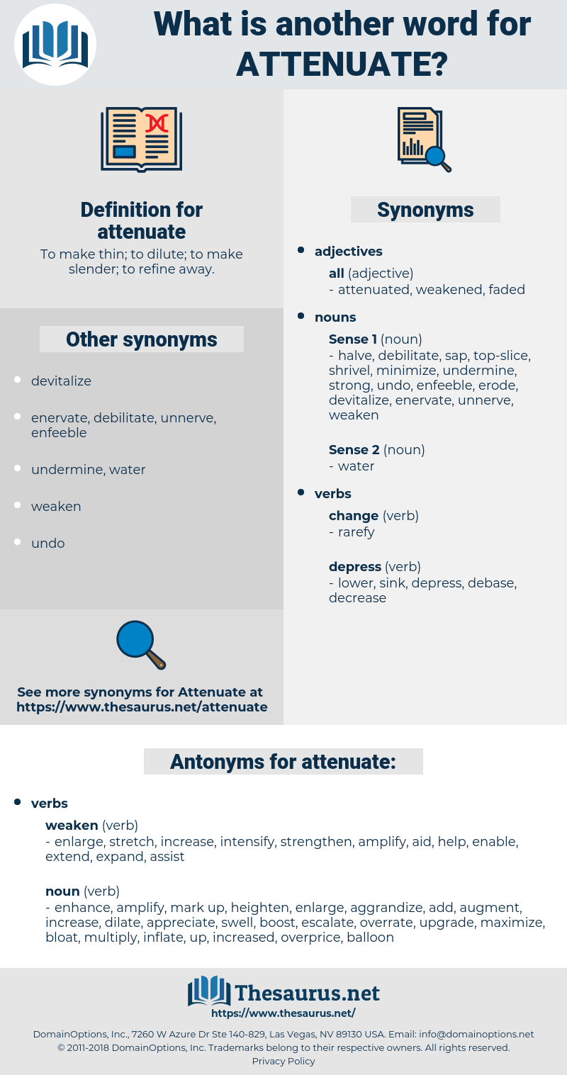 attenuate, synonym attenuate, another word for attenuate, words like attenuate, thesaurus attenuate