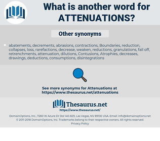 attenuations, synonym attenuations, another word for attenuations, words like attenuations, thesaurus attenuations
