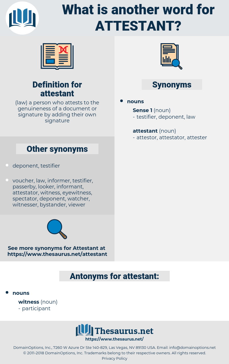 attestant, synonym attestant, another word for attestant, words like attestant, thesaurus attestant