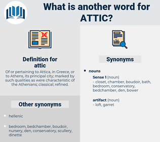 attic, synonym attic, another word for attic, words like attic, thesaurus attic