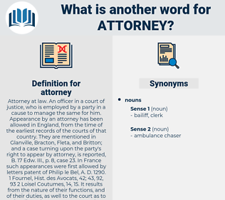 attorney, synonym attorney, another word for attorney, words like attorney, thesaurus attorney