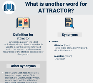attractor, synonym attractor, another word for attractor, words like attractor, thesaurus attractor