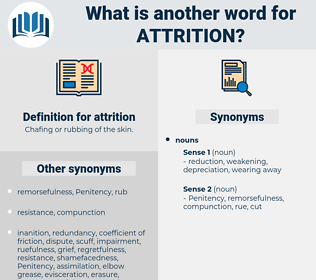 attrition, synonym attrition, another word for attrition, words like attrition, thesaurus attrition