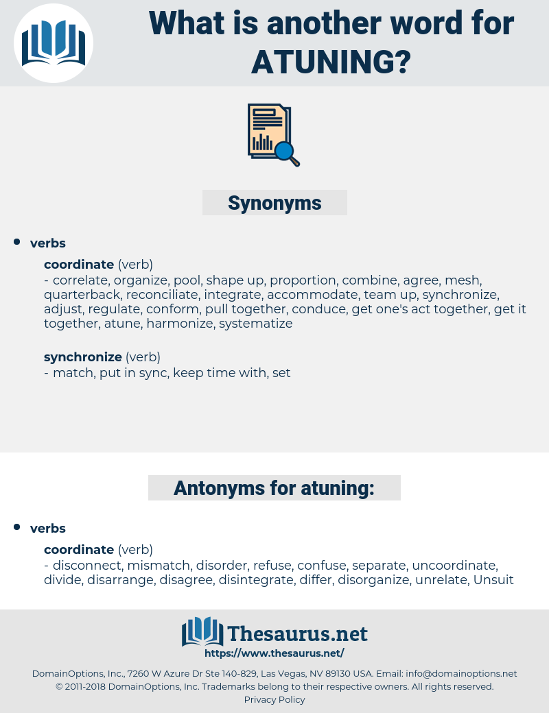 atuning, synonym atuning, another word for atuning, words like atuning, thesaurus atuning