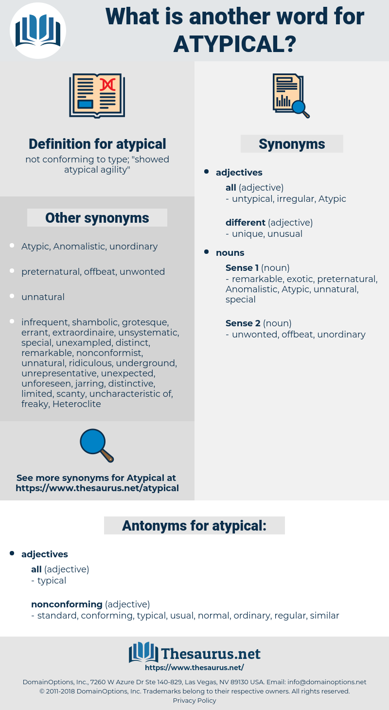atypical, synonym atypical, another word for atypical, words like atypical, thesaurus atypical