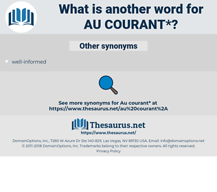 au courant, synonym au courant, another word for au courant, words like au courant, thesaurus au courant
