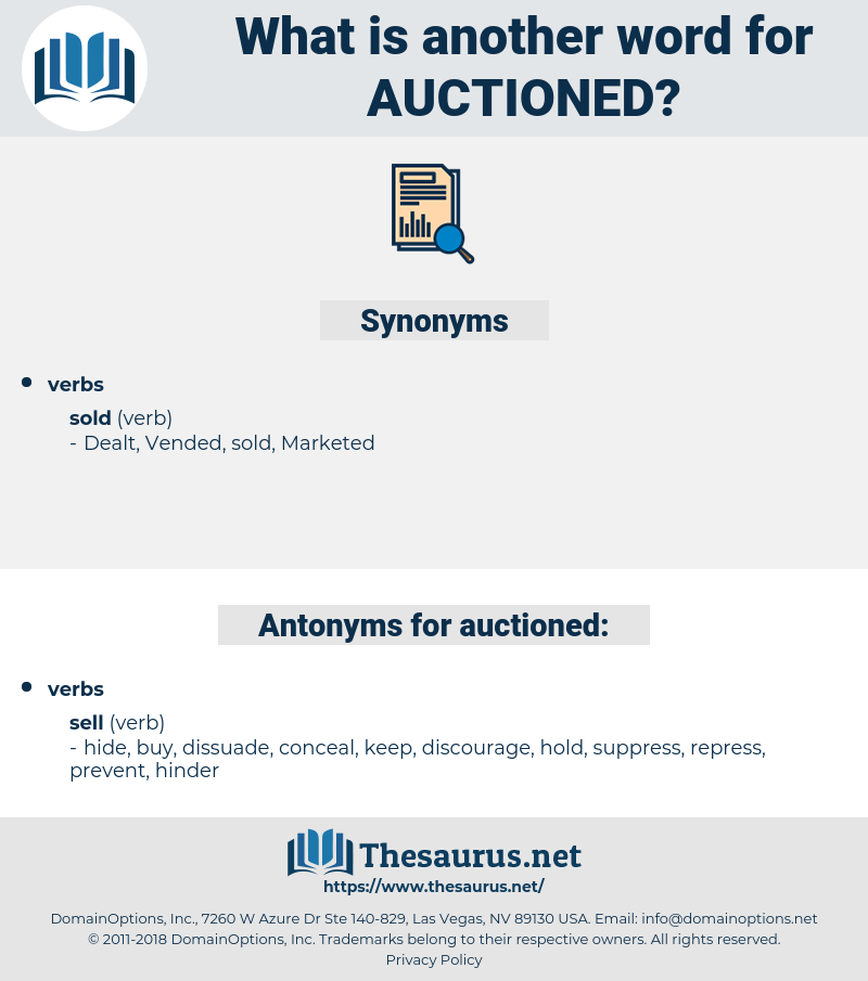 auctioned, synonym auctioned, another word for auctioned, words like auctioned, thesaurus auctioned
